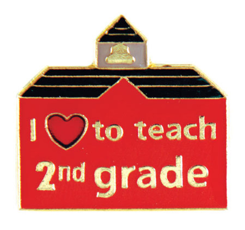 I (heart) to teach 2nd grade Lapel Pin