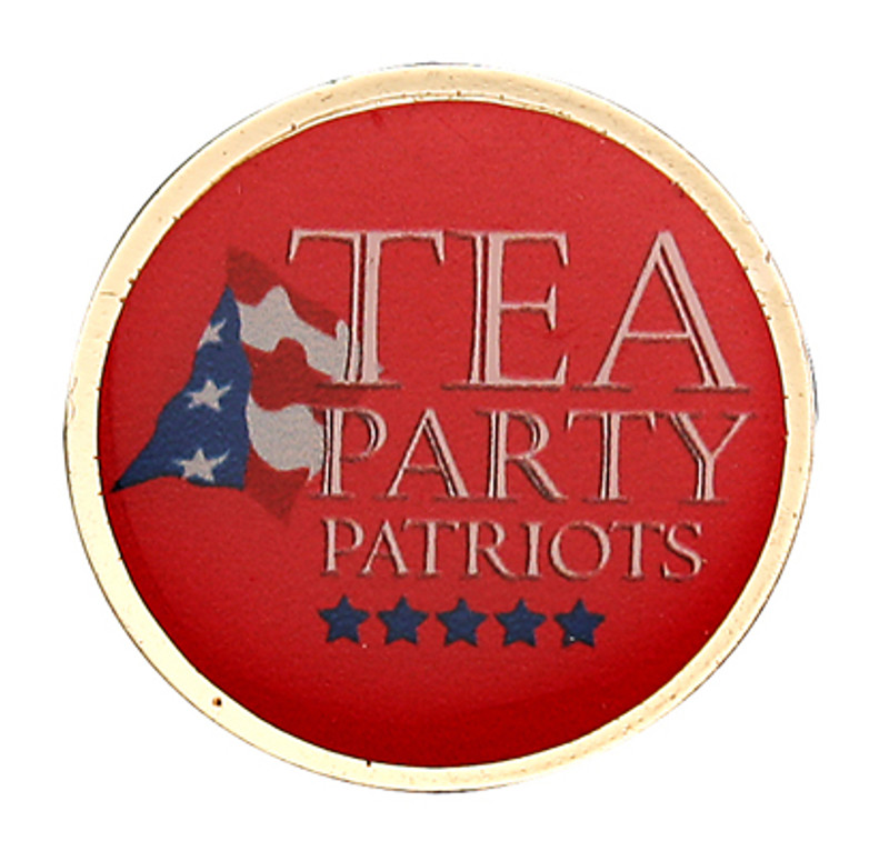 Tea Party Patriots Round Lapel Pin
