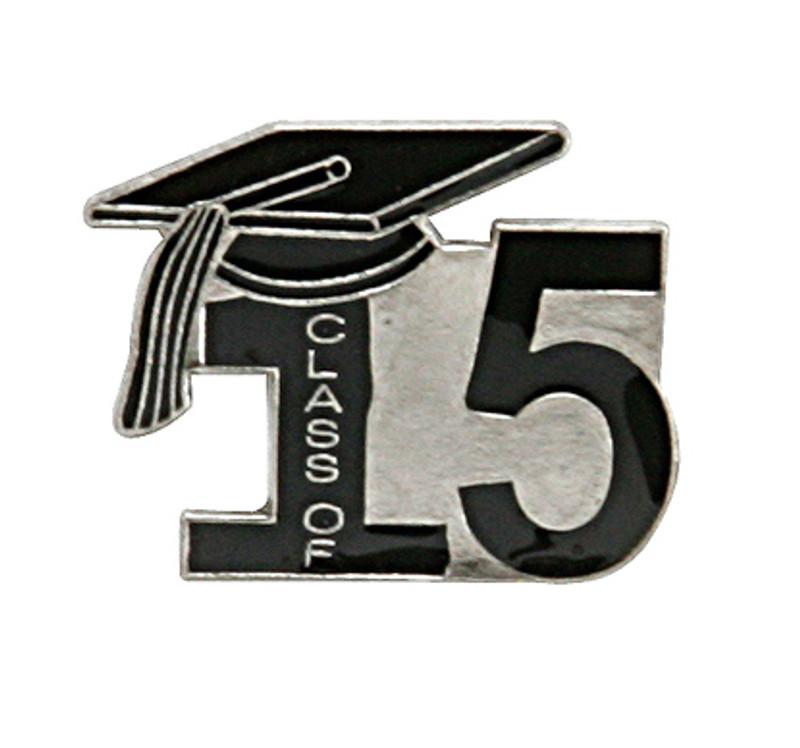 Class of 15' Black  Lapel Pin