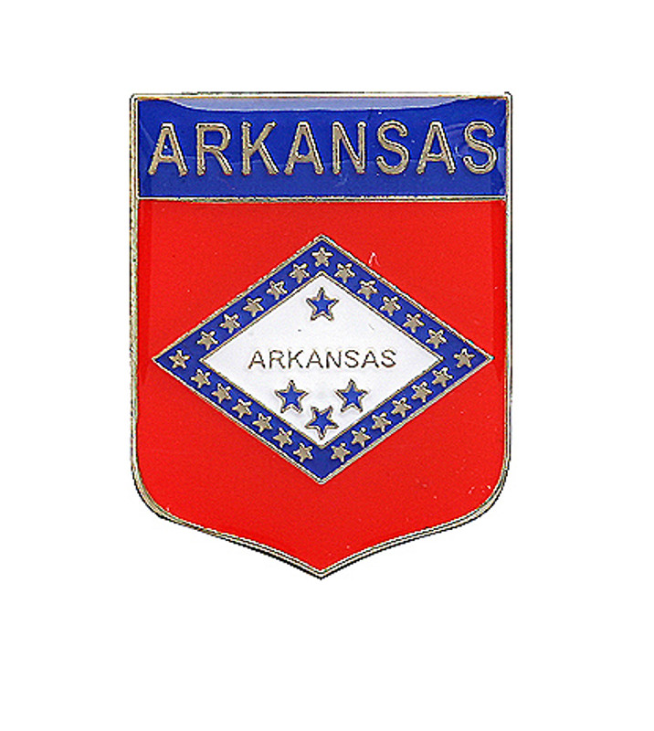 Arkansas Shield Lapel Pin