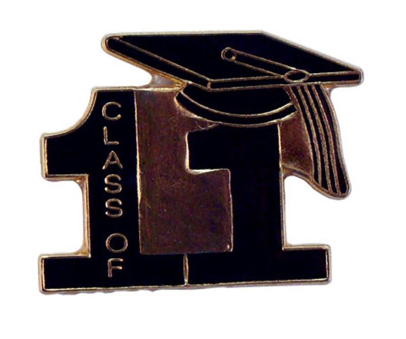 Class of 11' Black Lapel Pin