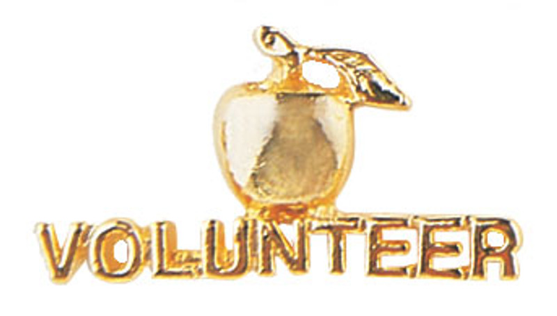 Golden Apple Volunteer Lapel Pin