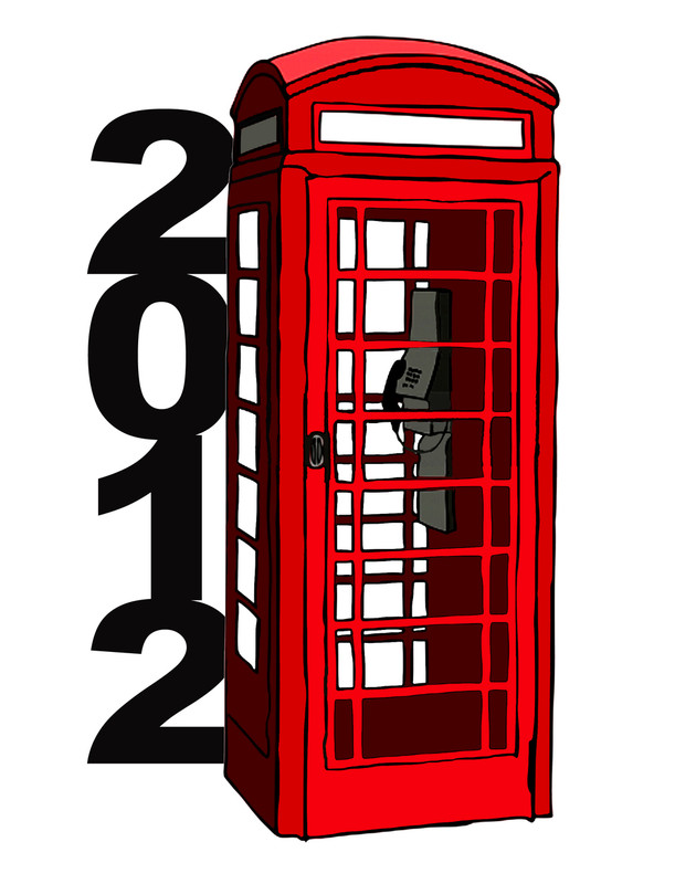 2012 London Phone Booth Lapel Pin