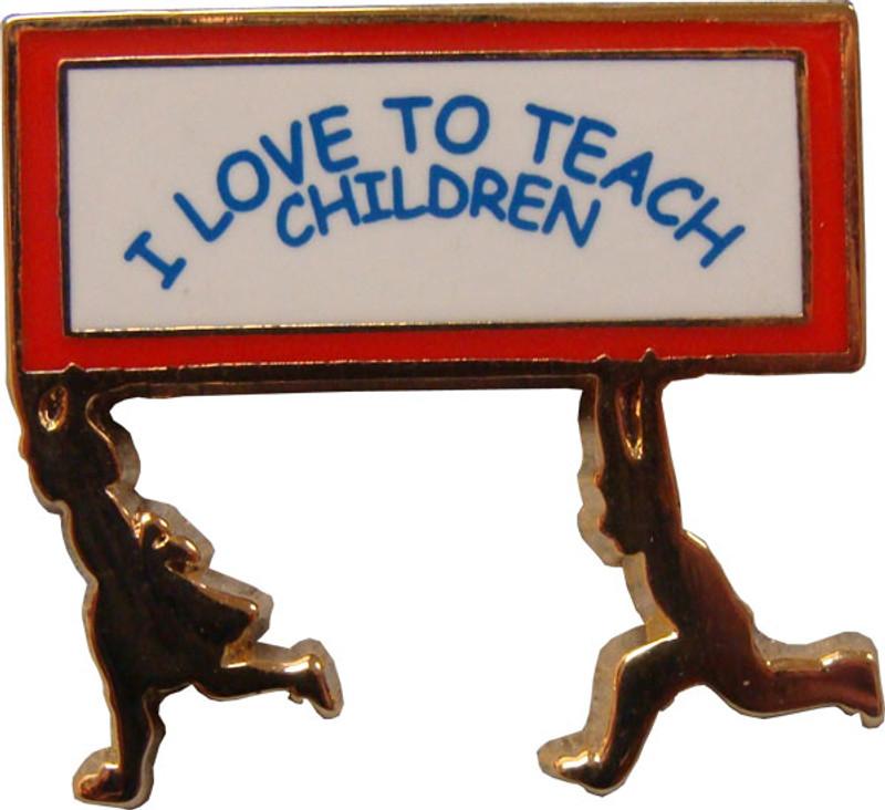 I Love to Teach Children Lapel Pin