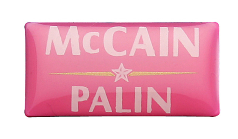 McCain Palin Pink Lapel Pin
