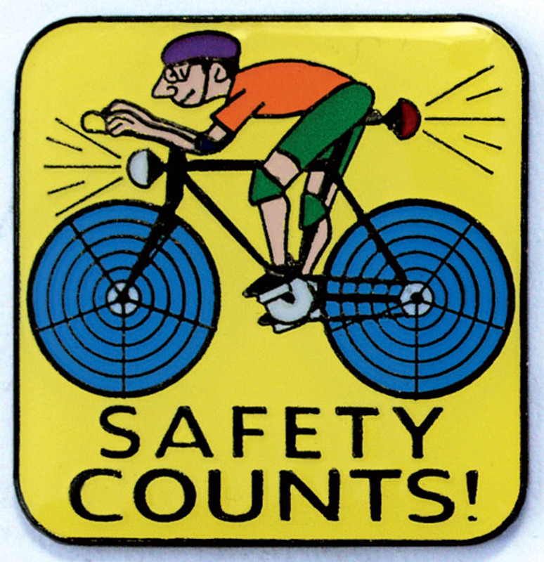 Safety Counts Lapel Pin