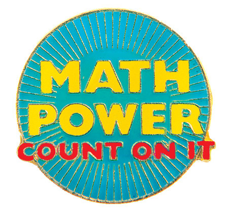 Math Power Count On It Lapel Pin