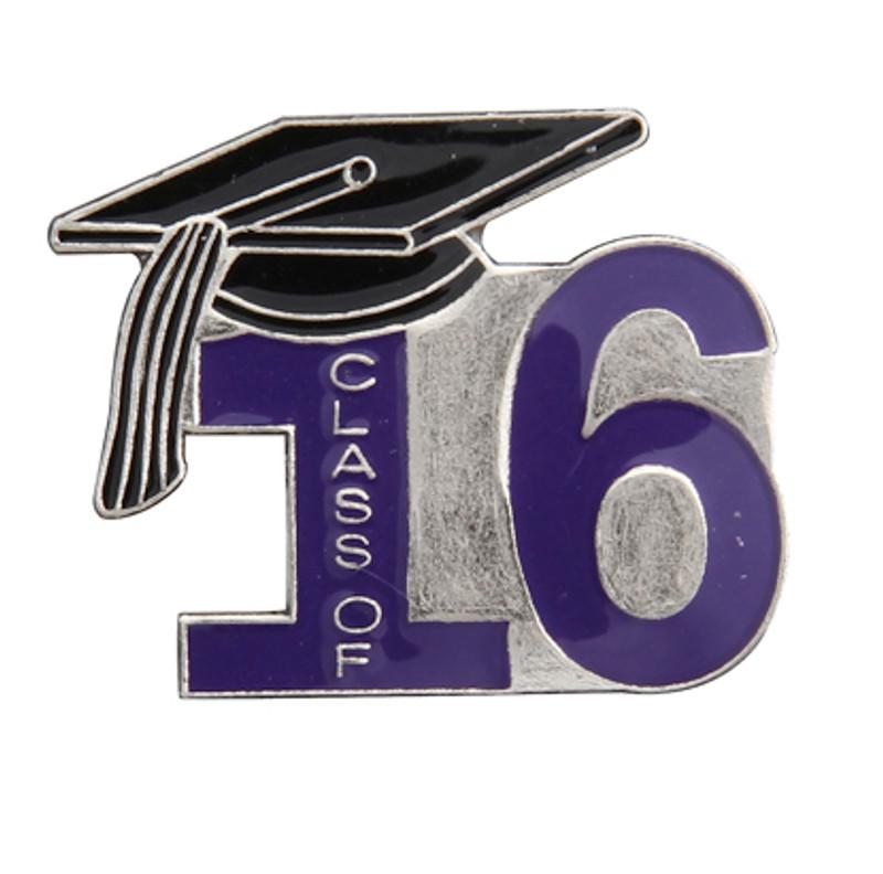 Class of 16' Purple Lapel Pin