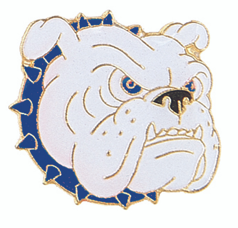 Bulldog with Blue Collar Lapel Pin