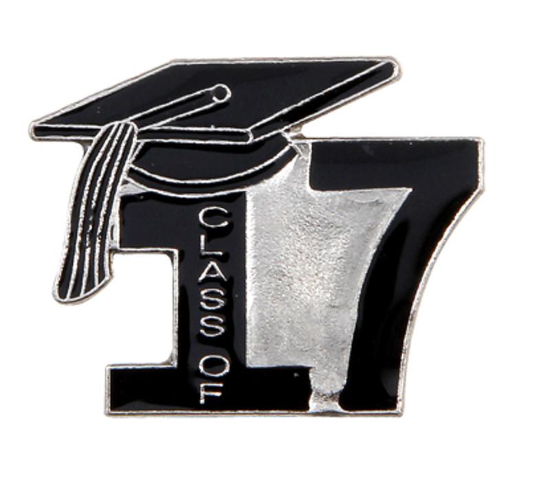Class of 17' Black Lapel Pin