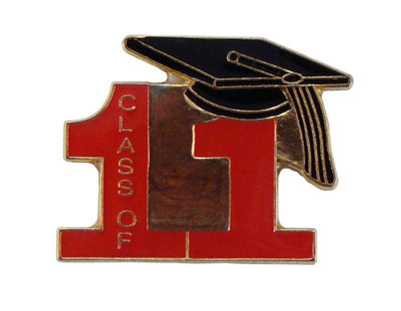 Class of 11' Red Lapel Pin