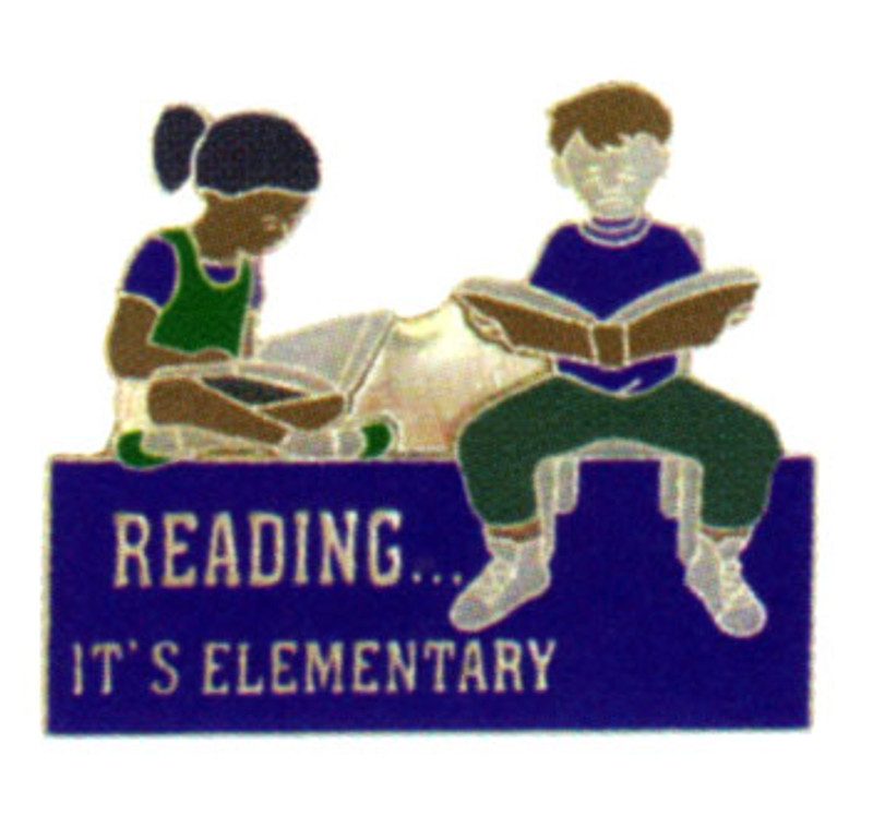Reading It's Elementary Lapel Pin