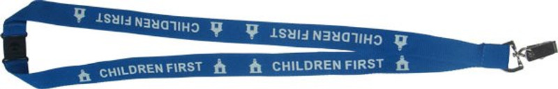 CHILDREN FIRST LANYARD - TURQUOISE