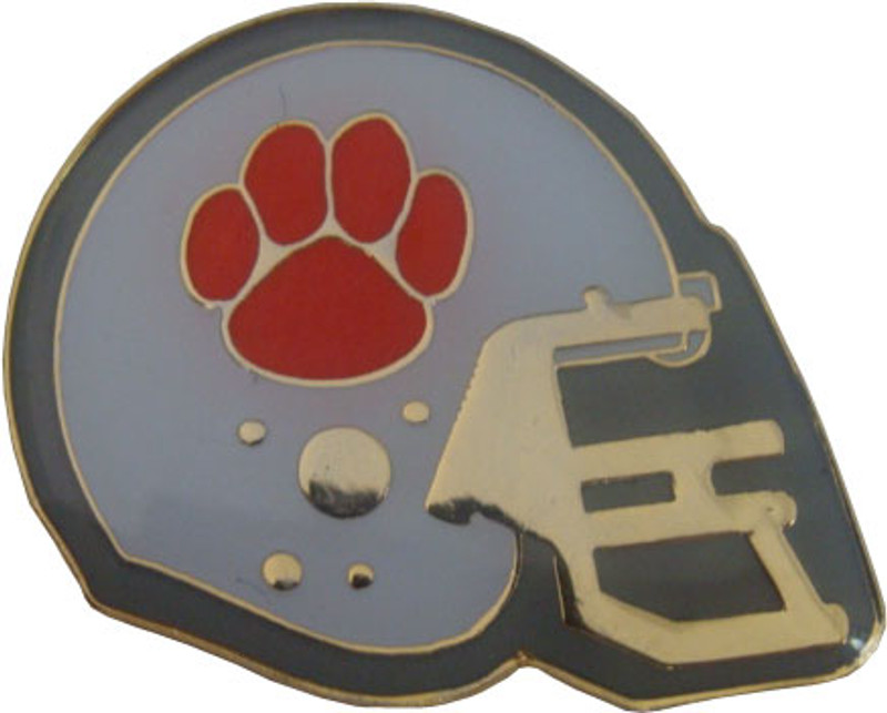 Football Helmet (Red) Lapel Pin