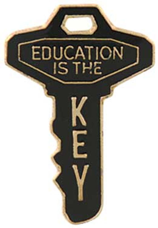 Education is the Key Lapel Pin
