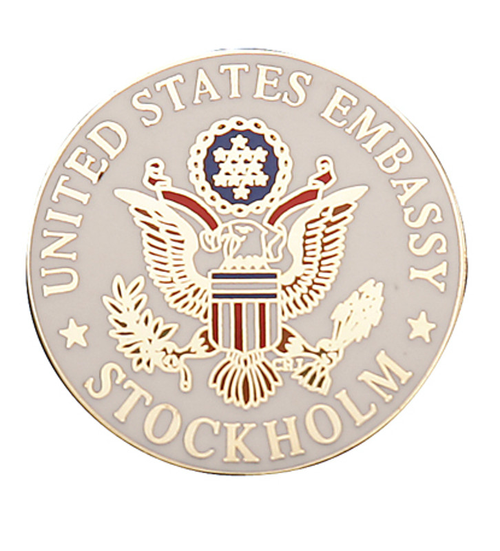 United States Embassy Stockholm Lapel Pin