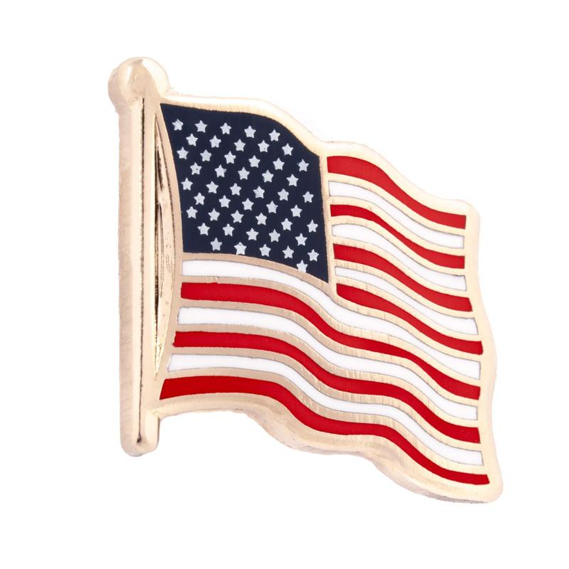 """US Flag 3/4"""" Hard Enamel Pin"""
