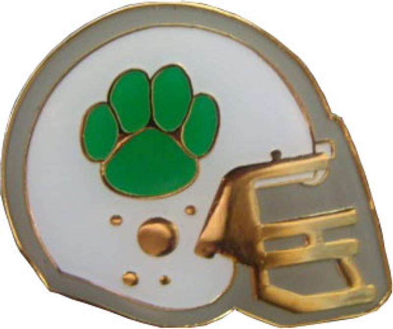 Football Helmet (Green) Lapel Pin
