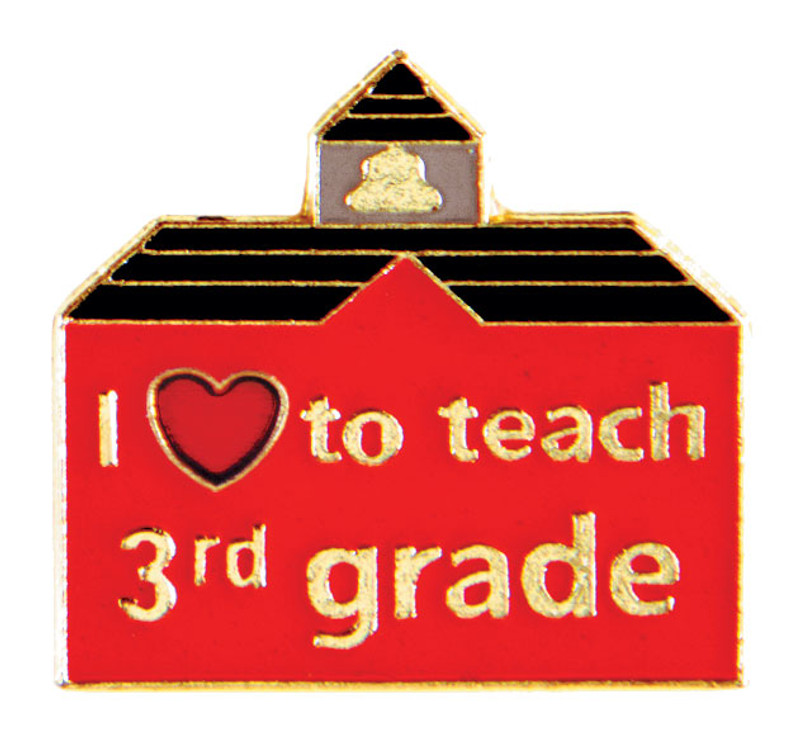 I (heart) to teach 3rd grade Lapel Pin
