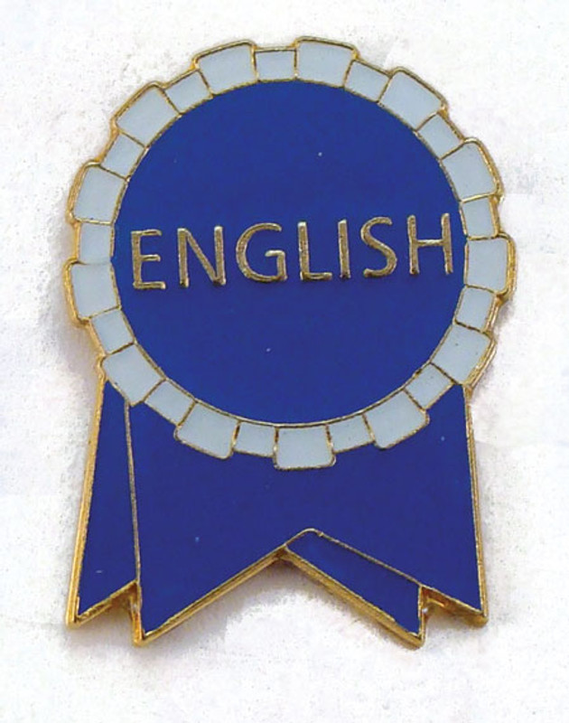 English Ribbon blue/white Lapel Pin