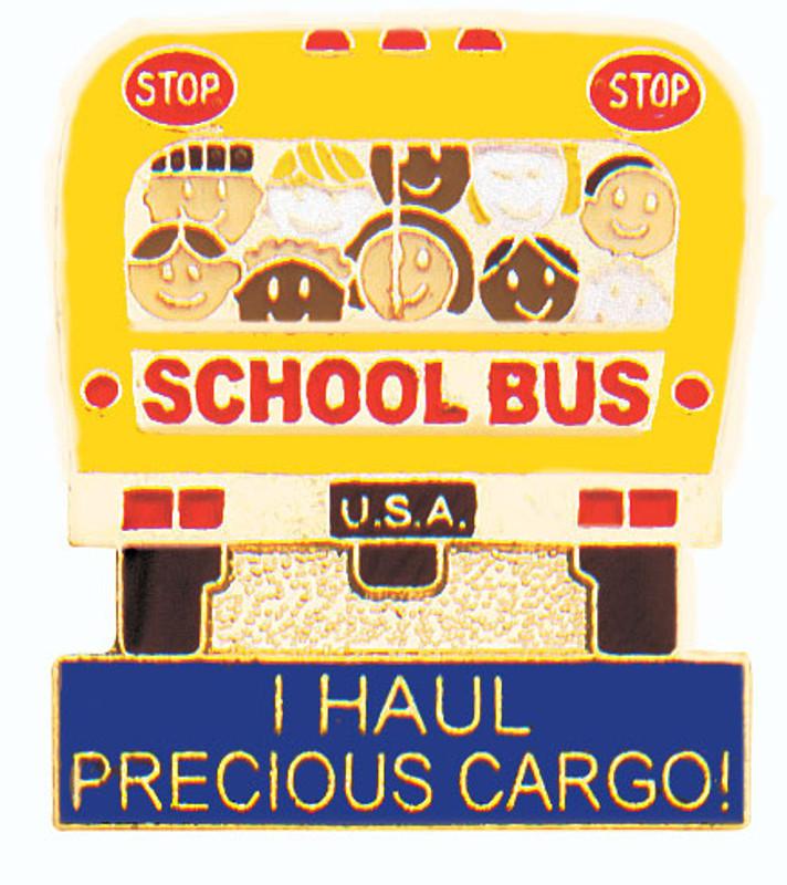I Haul Precious Cargo Bus Lapel Pin
