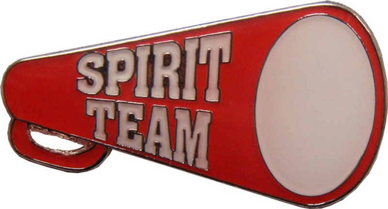 Spirit Team Red Megaphone Lapel Pin
