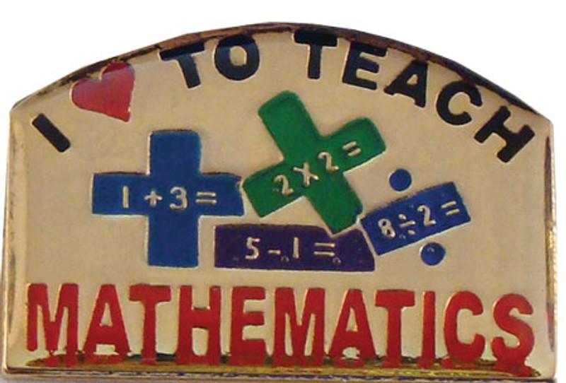 Love to Teach Math Lapel Pin