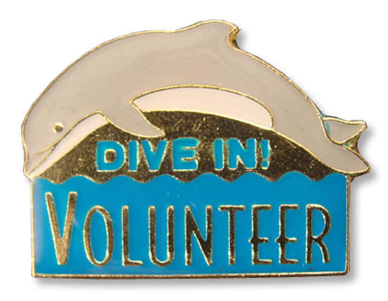 Dive In! Volunteer Lapel Pin
