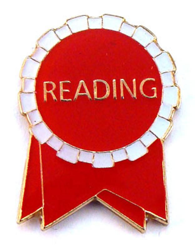 Reading Ribbon (red/white) Lapel Pin