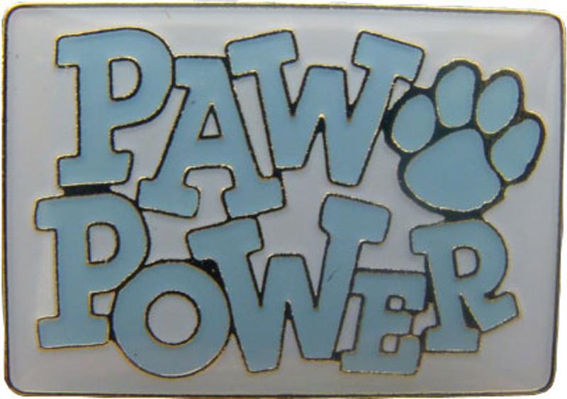 Paw Power (Light Blue) Lapel Pin
