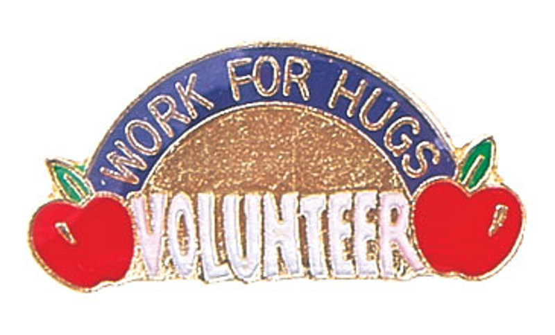 Work for Hugs Volunteer Lapel Pin