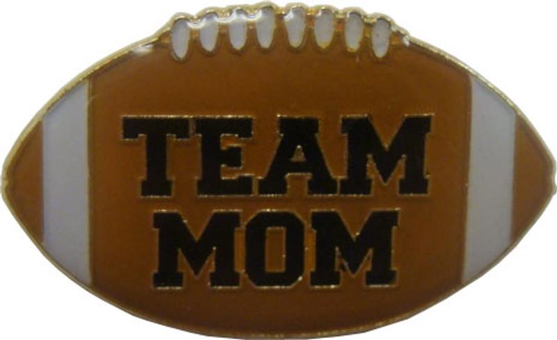 Team Mom Football Lapel Pin