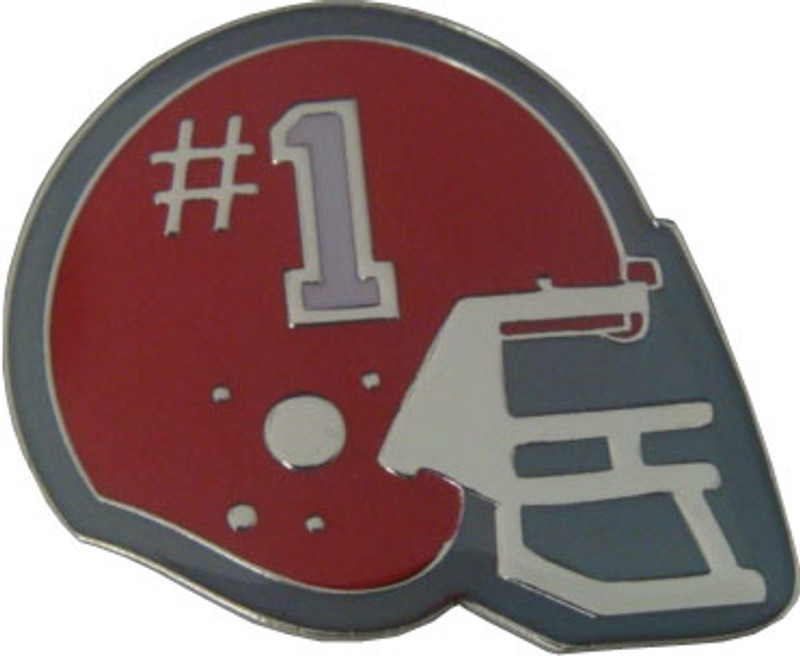 Helmet with #1 (Red) Lapel Pin