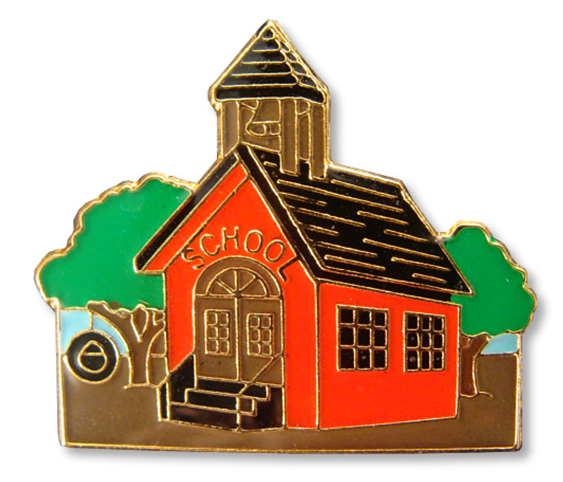 Schoolhouse Lapel Pin