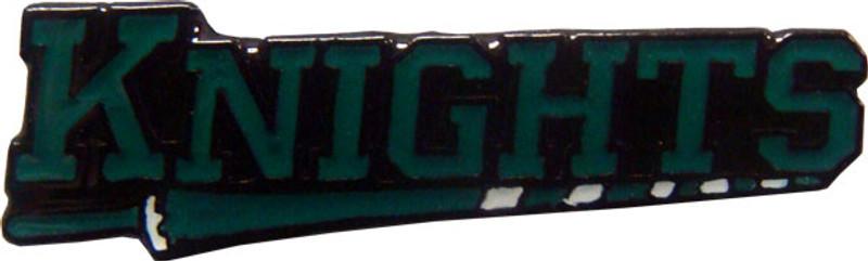 KNIGHTS in Green Lapel Pin