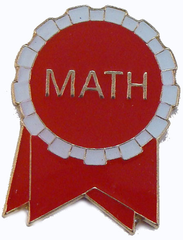 Math Ribbon (red/white) Lapel Pin