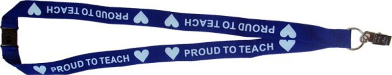 PROUD TO TEACH LANYARD - BLUE