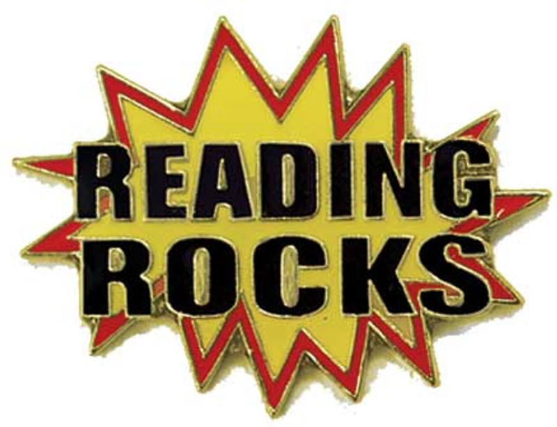Reading Rocks Lapel Pin