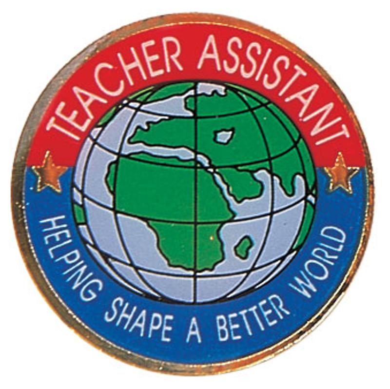 Teacher Assistant Helping Shape A Better World Lapel Pin