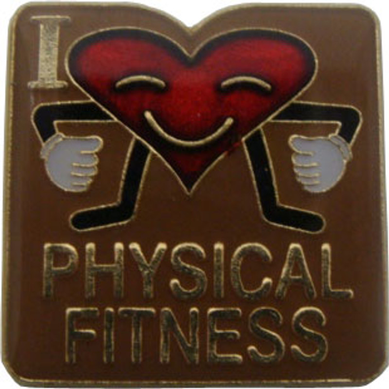 I (heart) Physical Fitness Lapel Pin