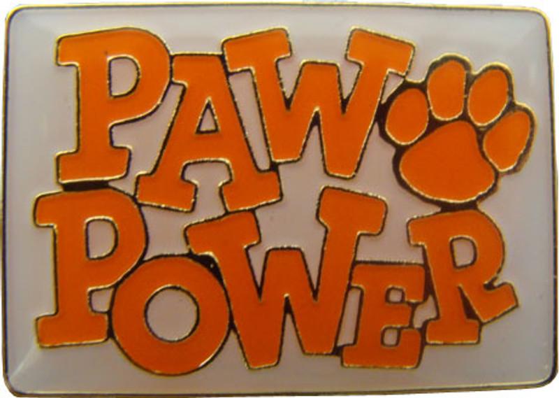 Paw Power (Orange) Lapel Pin