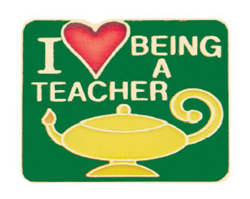 I (heart) Being a Teacher Lapel Pin