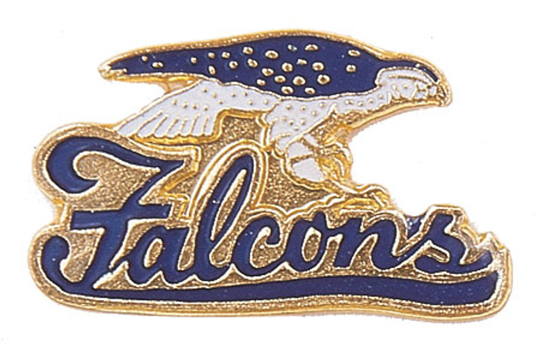 Falcons (Blue) Lapel Pin