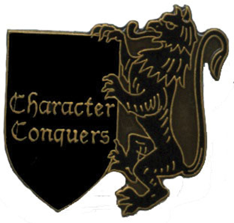 Character Conquers Lapel Pin