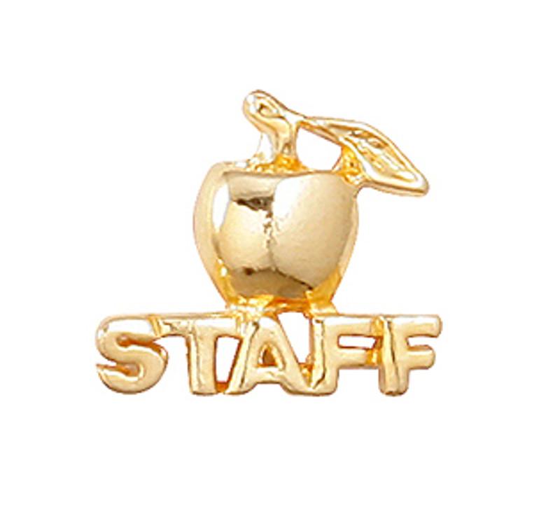 Golden Apple Staff Lapel Pin