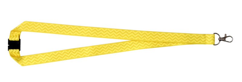 Chevron Print Lanyard - Yellow