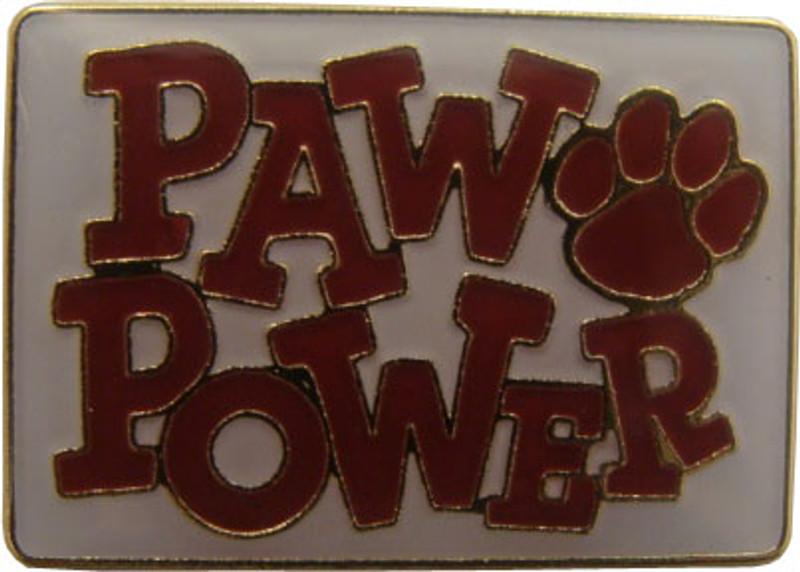 Paw Power (Maroon) Lapel Pin