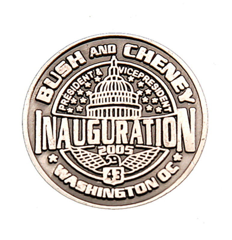 Bush and Cheney Inauguration Lapel Pin