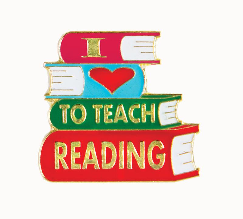 I (heart) to Teach Reading Lapel Pin