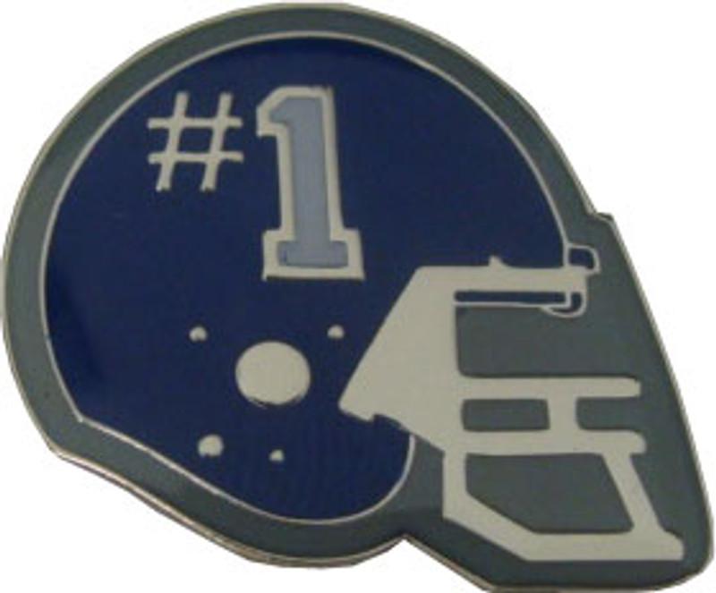 Helmet with #1 (Navy) Lapel Pin